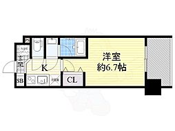 Osaka Metro御堂筋線 東三国駅 徒歩7分の賃貸マンション 8階1Kの間取り