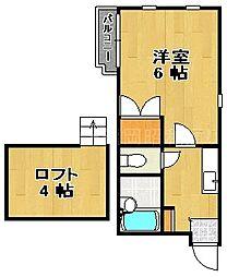 唐人町メゾンBMIII[2階]の間取り