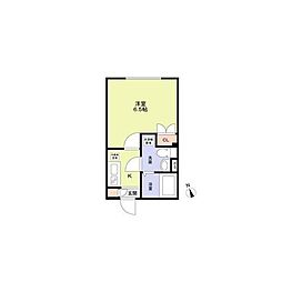 (仮称)早稲田鶴巻町PJ(ワセダツルマキチョウプロジェクト) 1階1Kの間取り