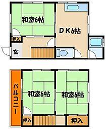 [タウンハウス] 兵庫県明石市明南町2丁目 の賃貸【/】の間取り