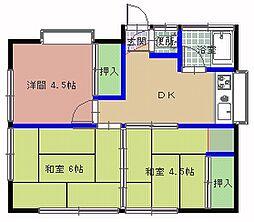 [一戸建] 茨城県ひたちなか市津田 の賃貸【/】の間取り