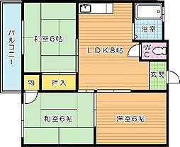 光田ビル[305号室]の間取り