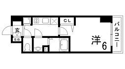 JR東海道・山陽本線 兵庫駅 徒歩4分の賃貸マンション 10階1Kの間取り