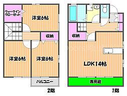 JR山陽本線 西川原駅 徒歩8分の賃貸タウンハウス 1階3LDKの間取り