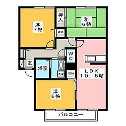 ウェルフェアビレッジ G棟[2階]の間取り