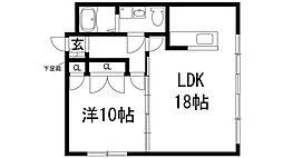 兵庫県宝塚市売布3丁目の賃貸マンションの間取り