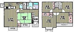 [タウンハウス] 大阪府大阪狭山市池尻自由丘2丁目 の賃貸【/】の間取り