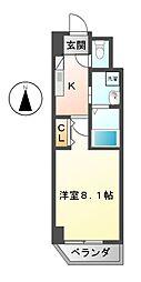 愛知県名古屋市東区泉3の賃貸マンションの間取り