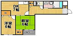 かどマンション[1階]の間取り
