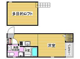 ロワゾブルー七隈[1階]の間取り