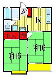 メゾングリーンパーク S-3[2階]の間取り
