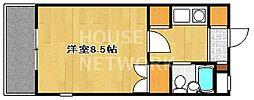 サンフェスタ東福寺[A202号室号室]の間取り