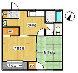 メゾングリーンパークS-3[1階]の間取り