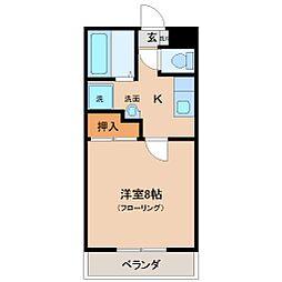 わかばマンション I[1階]の間取り