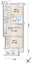 豊洲レジデンス[0611号室]の間取り