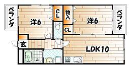 福岡県北九州市戸畑区浅生3丁目の賃貸マンションの間取り