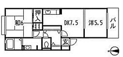 カーサベルデ(川内1)[1階]の間取り
