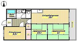 杉谷パークマンション[4階]の間取り