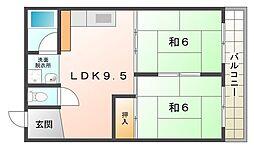 ワールドライフ 84[2階]の間取り
