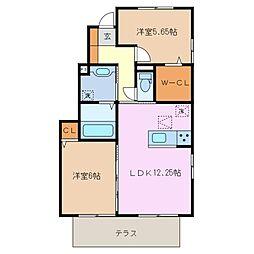 仮)D-room大井手[1階]の間取り