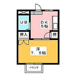 タウンハウス阿倉川 B棟[2階]の間取り