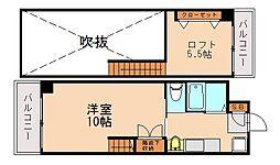 テングッド片江[5階]の間取り