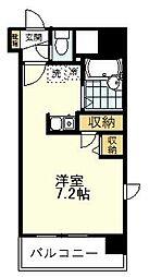 HF国分寺レジデンス 11階ワンルームの間取り