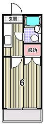 京都府京都市北区衣笠赤阪町の賃貸マンションの間取り