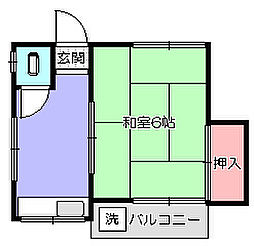 第二高橋荘[2階]の間取り