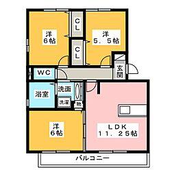 アムレットA[2階]の間取り