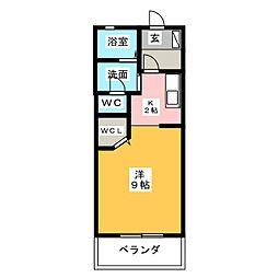 ルミエール泰山 B[1階]の間取り
