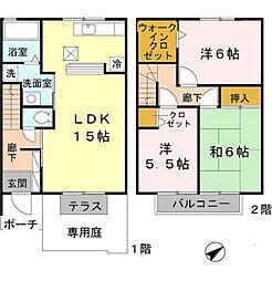 クレールヴィレッジ A棟[1階]の間取り