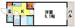 福岡県太宰府市五条2丁目の賃貸マンションの間取り