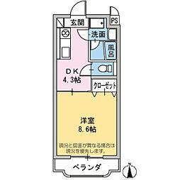 エミネンスHattori[1階]の間取り