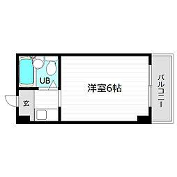 レアレア都島16番館[3階]の間取り