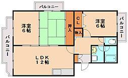 レジデンス渡邊Ⅱ[2階]の間取り