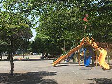 道路を挟んで公園です