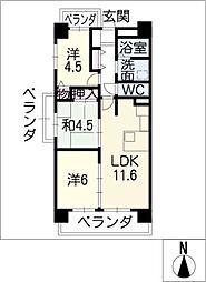 横山マンション[6階]の間取り