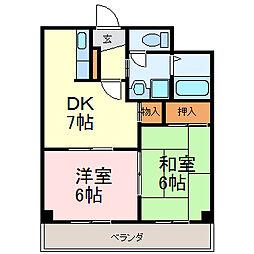 SPACE DUKE[7階]の間取り