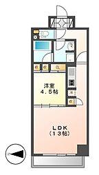 CORNES HOUSE NAGOYA[5階]の間取り