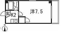 愛知県名古屋市昭和区恵方町1丁目の賃貸マンションの間取り