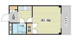 兵庫県姫路市南駅前町の賃貸マンションの間取り