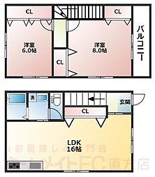 ミースI[1階]の間取り