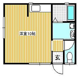 しみずやアパート[1階]の間取り