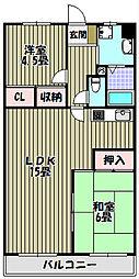 エトワール・キタノ[3階]の間取り