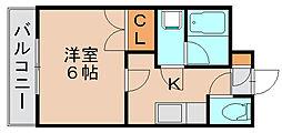 スクエア西月隈[4階]の間取り