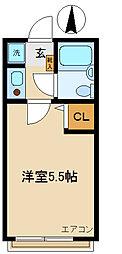 ハイツタケウチ[2階]の間取り