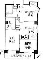 ドルミ若葉[4階]の間取り