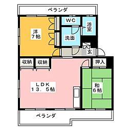 コーポ柴田[2階]の間取り