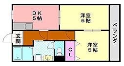 シティライフ平野[706号室]の間取り